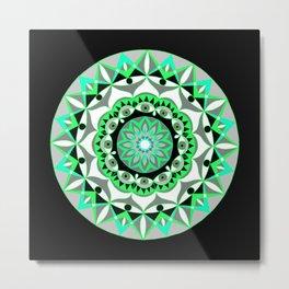 My Mandhala   Secret Geometry   Energy Symbols Metal Print