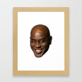 Ainsley Harriott british meme give your meat a good ol rub with 50ml of dark soy sauce Framed Art Print