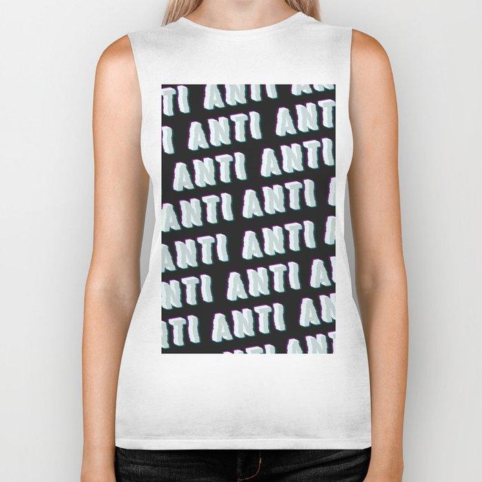 Anti - Typography Biker Tank