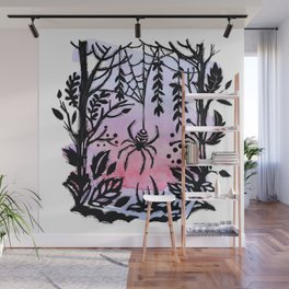 Spider Spider Spin Your Web For Night Is Coming Soon Wall Mural