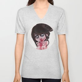 (zombie) loved Unisex V-Neck