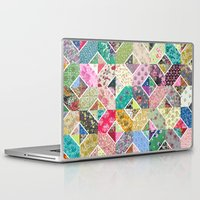 quilt Laptop & iPad Skins featuring Betty's Diamond Quilt by Rachel Caldwell