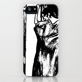 Mysterious woman iPhone Case