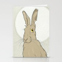 hare Stationery Cards featuring Hare by Stu Jones