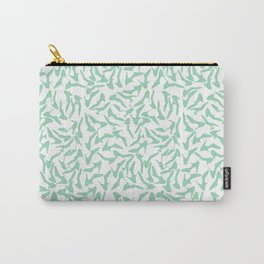 Shoes Mint on White Carry-All Pouch