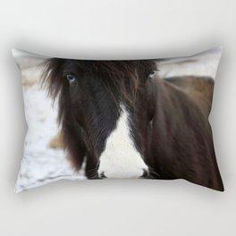 Blue Eye Icelandic Horse Rectangular Pillow