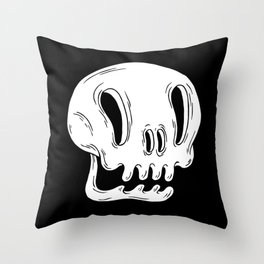 Calaverita Blanca Throw Pillow