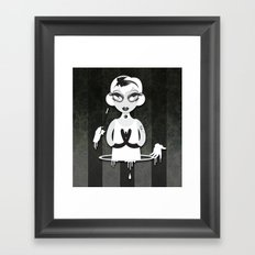 Whiteout: The Disappearance Act Framed Art Print
