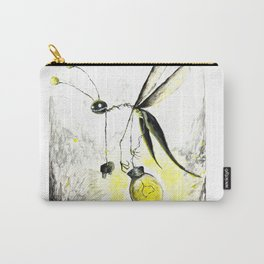 Overworked Lightening Bug Carry-All Pouch