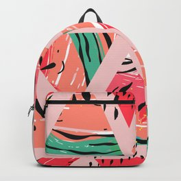 Pink Watermelon Pattern Backpack