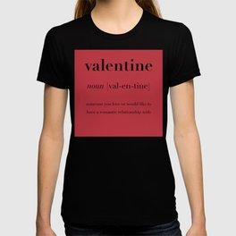 Valentine Definition  T-shirt