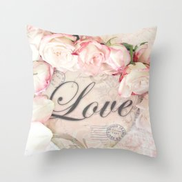 Love and Roses  Throw Pillow