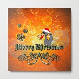 Christmas crow Metal Print