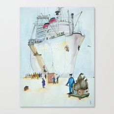 In the seaport Canvas Print