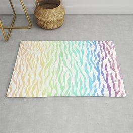 Rainbow Zebra stripes pattern. Digital illustration. Rug