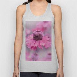 Pink flower macro 066 Unisex Tank Top