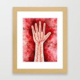 """Illustration for """"Blood, Sea"""" by Italo Calvino, from """"The Complete Cosmicomics"""" Framed Art Print"""