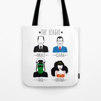 league Tote Bags featuring THE LEAGUE by kravic