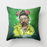 walter white Throw Pillows featuring Walter White  by Madows