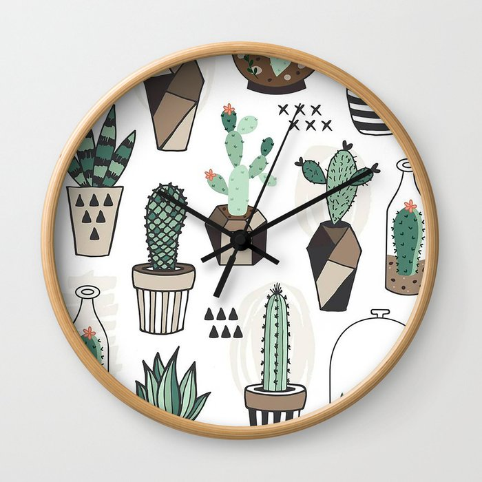 S(weet)ucculent Dreams Wall Clock