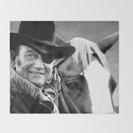 John Wayne @ True Grit #1 Throw Blanket