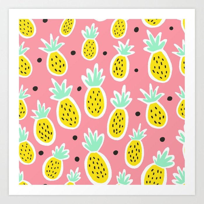 Pineapple Party Art Print