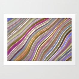 Wild Wavy Lines 06 Art Print