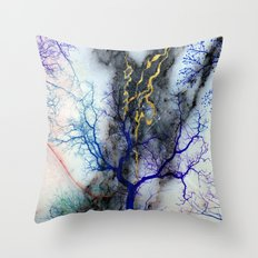 Marble through Tree Branches Throw Pillow