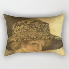 Golden victorian lady Rectangular Pillow