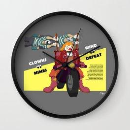 Clowns vs Mimes Wall Clock