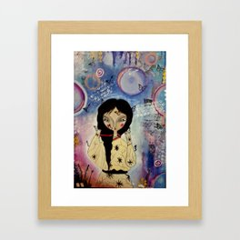 Butterfly girl Framed Art Print
