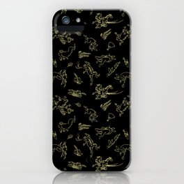 Animal caricatures 1 iPhone Case