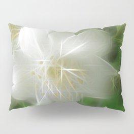 White Shiny Jasmine Pillow Sham
