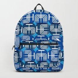 Mid Century Menorah for Hanukkah Backpack