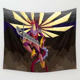 Earth Shattering Dragon Wall Tapestry