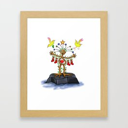 Nature Man Christmas Framed Art Print