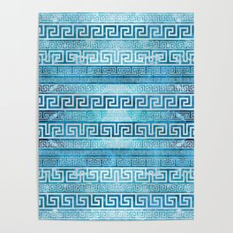 Greek Meander Pattern - Greek Key Ornament Poster
