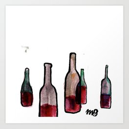 Wine Bottles 1 Art Print