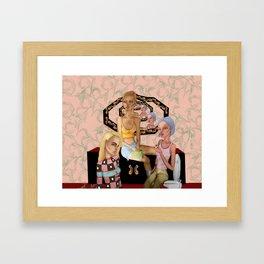 bathroom talks Framed Art Print