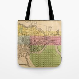 Map of Wilmington 1868 Tote Bag