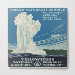 Vintage poster - Yellowstone Metal Print