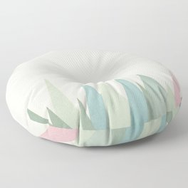 Snowy Mountains Floor Pillow