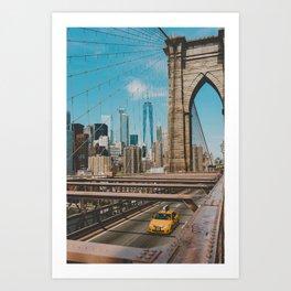 The Bridge in New York City (Color) Art Print
