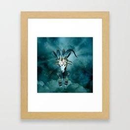 The billy goat  skull Framed Art Print