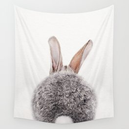 Bunny Tail, Grey Bunny Rabbit, Baby Animals Art Print By Synplus Wall Tapestry
