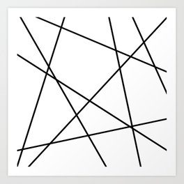 Lines in Chaos II - White Art Print