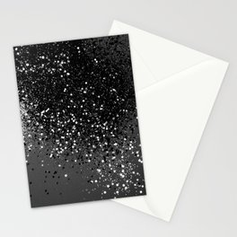 Dark Gray Black Lady Glitter #1 #shiny #decor #art #society6 Stationery Cards