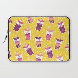 Bubble Tea Boba Pattern Laptop Sleeve