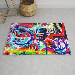 Gritty Crazy Graffiti  Rug