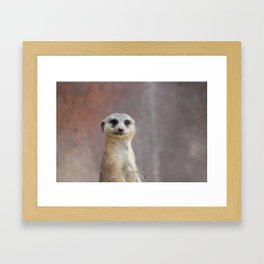 I Call Him Uncle Bob And He Was Ready For His Closeup Framed Art Print